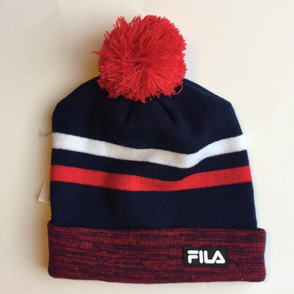 New with tags FILA hat with Pom Pom cf5cf4ad324e